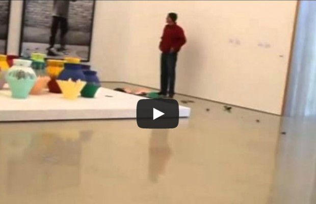 VIDEO: Man Destroying a Million Dollars Worth of Art