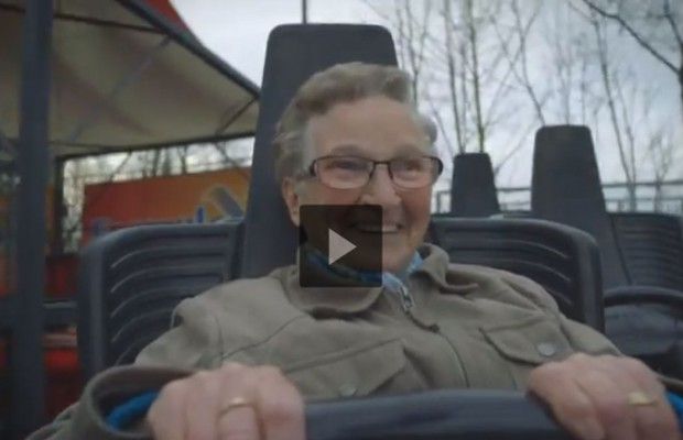 Old Woman Rides a Roller Coaster for the First Time