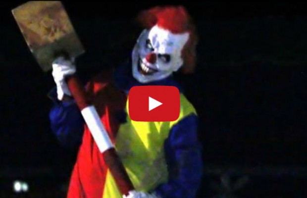Guy Dresses As Clown, and Pranks People. .