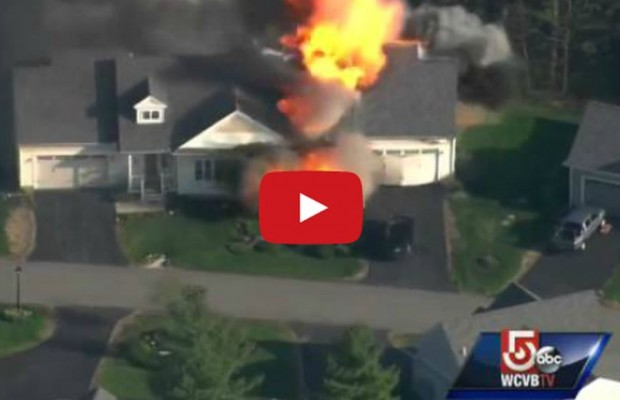 A House Exploded on Live TV During a Standoff With Cops