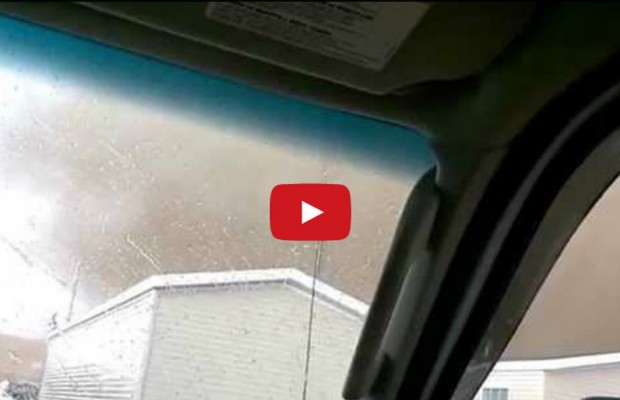 Guys Laugh Like Morons While a Tornado Heads Straight For Them