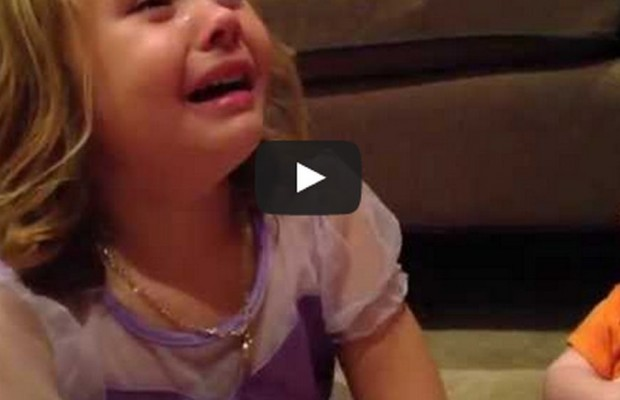 Baby Brother Laughs at Sister Crying